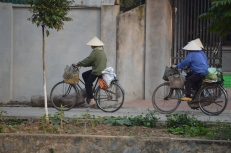 Local Cyclists in Hanoi, Vietnam